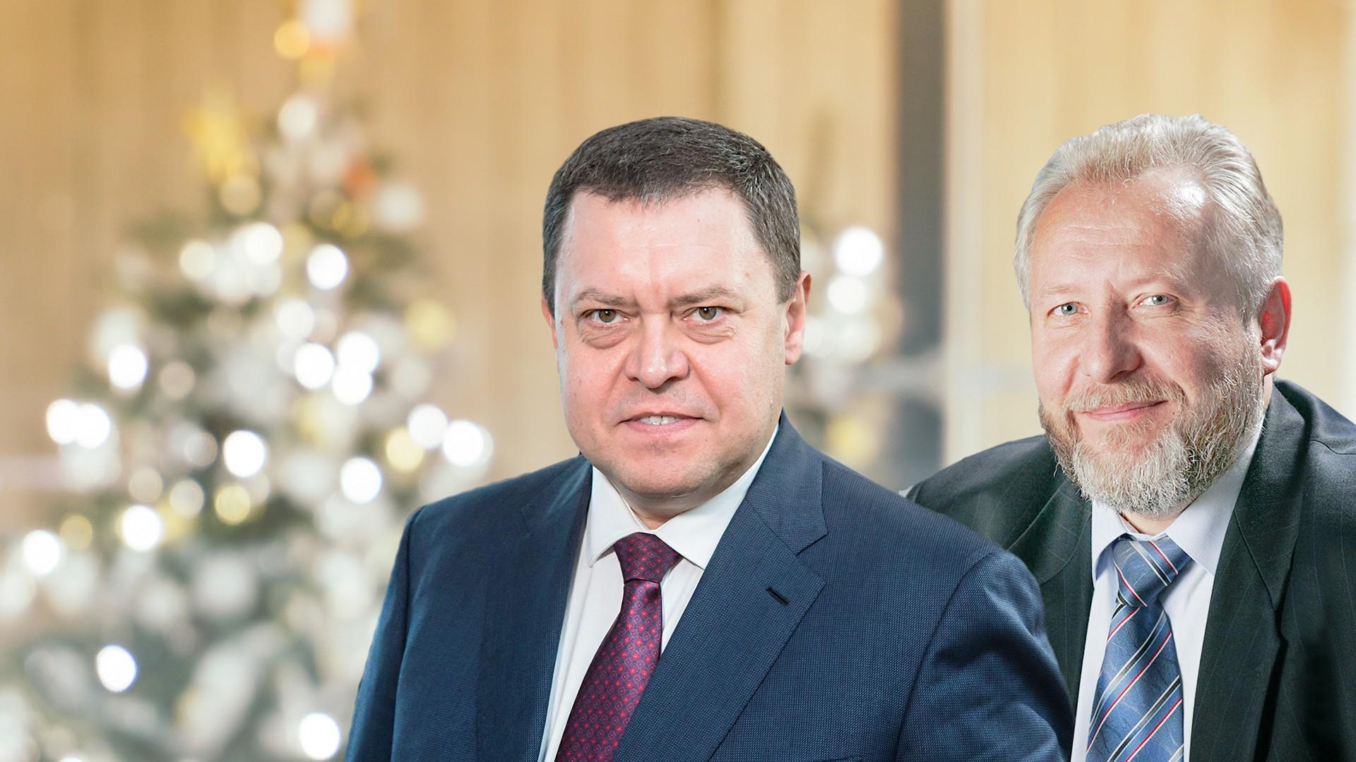 Совместное поздравление Эдуарда Грабовенко и Сергея Ряховского с Рождеством Христовым и Новым годом